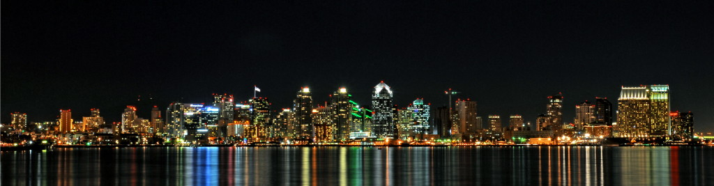 The San Diego skyline at night. Truly one of America's beautiful cities